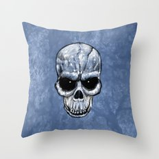 Skull Gaze Throw Pillow