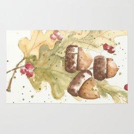 Autumn Acorns Rug