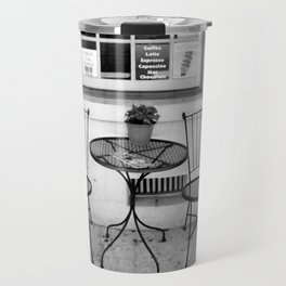 Table for Two - Black and White Travel Mug