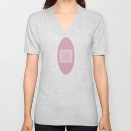 Dusty Rose Drawing Therapy Unisex V-Neck