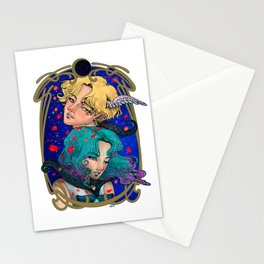 Haruka and Michiru - Sailor Moon Fanart - Sailor Uranus and Sailor Neptune Stationery Cards