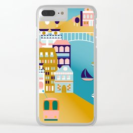 Colorful Lisbon Clear iPhone Case