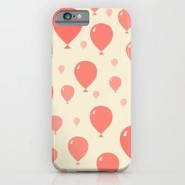 Red Balloons pattern iPhone Case
