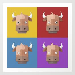 Warhol's Cow Art Print