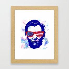 Abe Rock'n the 4th Framed Art Print