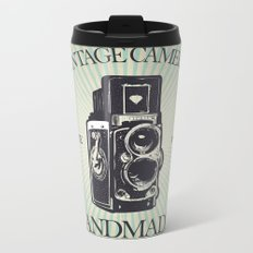 Camera Vintage Metal Travel Mug
