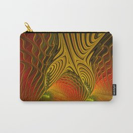 Mysterious and Luminous, Abstract Fractal Art Carry-All Pouch
