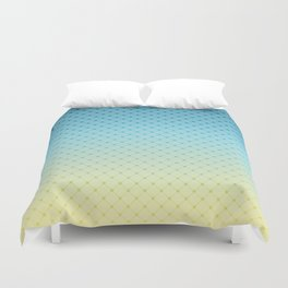 Blue yellow Ombre . Duvet Cover