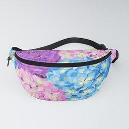 Purple & Blue Hydrangeas Fanny Pack