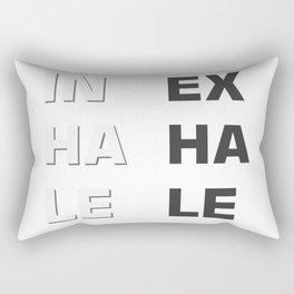 Inhale- Exhale (Inex- Haha- Lele) Rectangular Pillow