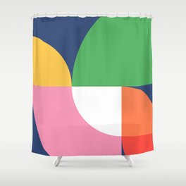 Abstract Geometric 15 Shower Curtain
