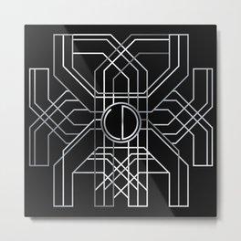 Silver Deco Metal Print