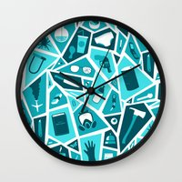 breaking bad Wall Clocks featuring Breaking Bad by Felix Rousseau