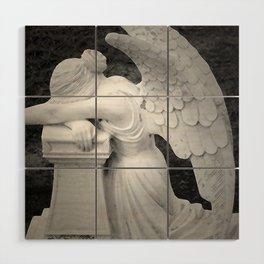 crying angel Wood Wall Art