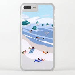 Island Dots Clear iPhone Case