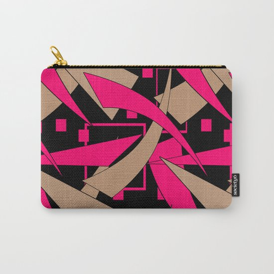 Creative abstract pattern . Geometric shapes .4 Carry-All Pouch
