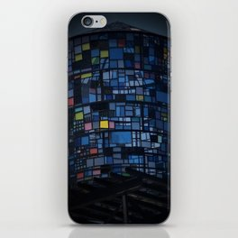 Stained glass water tower iPhone Skin