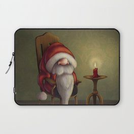 New edit: Little Santa in his rocking chair Laptop Sleeve