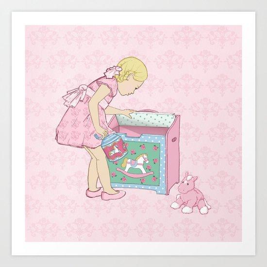 Carousel Rose Art Print