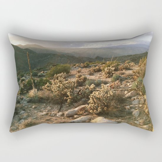 Borrego Desert Sunset Rectangular Pillow