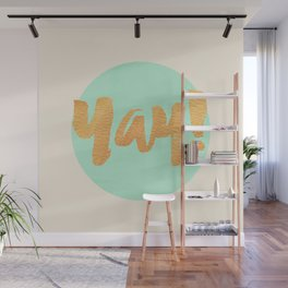 Yay! MINT AND GOLD Wall Mural