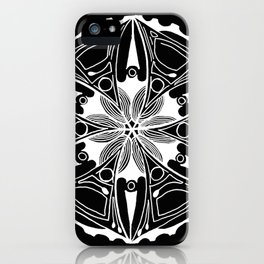 Black & White Sea and Surf iPhone Case