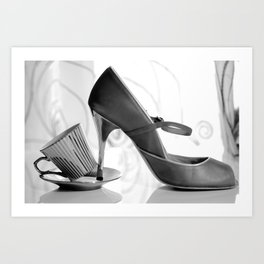 Glamorous Obsessions in high heels Art Print