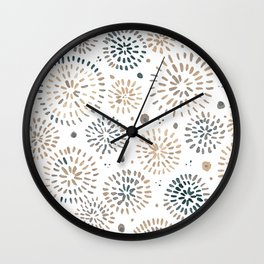 Abstract watercolor sparkles – neutral Wall Clock