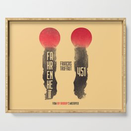 Fahrenheit 451, François Truffaut, french movie, british film, Ray Bradbury,  dystopian novel, book Serving Tray
