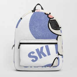 Grand Targhee Wyoming Ski Bunny Print for Skiing Vacation Backpack