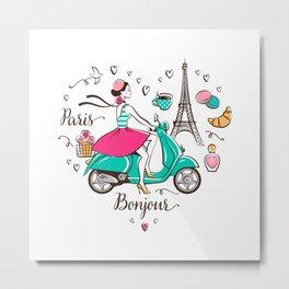 Paris is love Metal Print