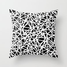 Ab Upside down Black Throw Pillow
