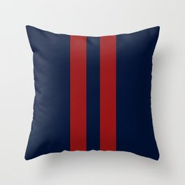 Navy Red Red Throw Pillow