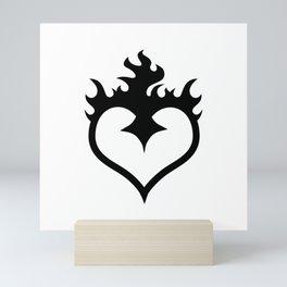 FLAME HEART Mini Art Print