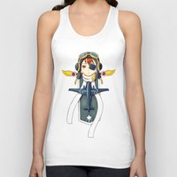 pilot Tank Tops featuring Pilot Banner by Freeminds