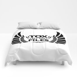 Tox Files - Black on White Comforters