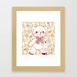 The Adventures of Bear and Baby Bear-Pastry Framed Art Print