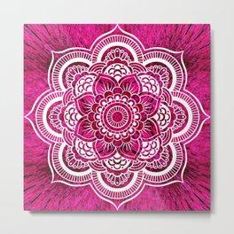 Mandala Hot Pink Colorburst Metal Print