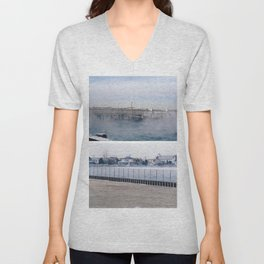 winter on the water. Unisex V-Neck