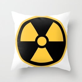 Nuclear Logo Symbol Throw Pillow