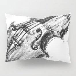 Black Violin Pillow Sham