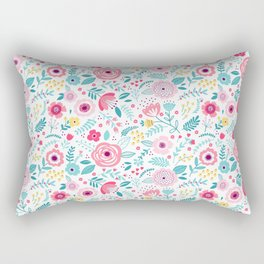 Small Colorful Flowers Rectangular Pillow