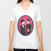 danisnotonfire V-neck T-shirts featuring Fancy Phan  by BrimRun