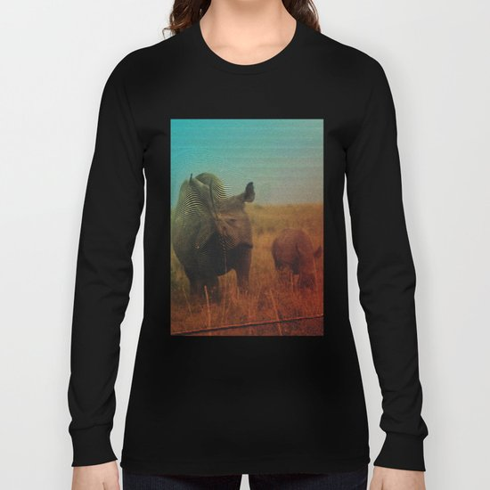 Abstract Rhino Long Sleeve T-shirt