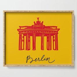 Brandenburg Gate in Berlin Serving Tray