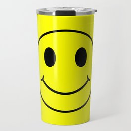 Smiley Happy in yellow color on a yellow background - EFS174 Travel Mug