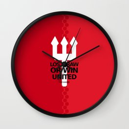 manchester united 7 Wall Clock