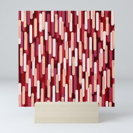 Fast Capsules Red Mini Art Print