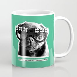 PUG SUKI - FLORALS FOR SPRING - MINT GREEN Coffee Mug