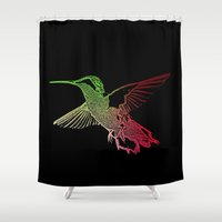 neon Shower Curtains featuring Neon by Nichole B.